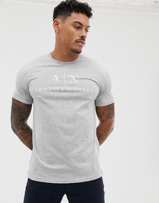 Armani Exchange text logo t-shirt in grey