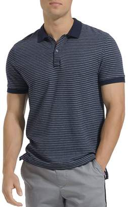 ATM Anthony Thomas Melillo Striped Piqué Slim Fit Polo Shirt