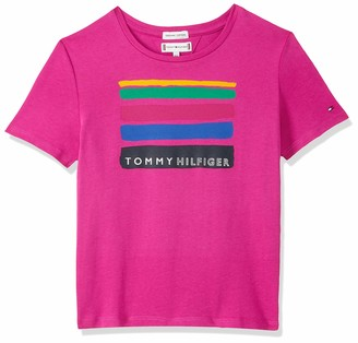 Tommy Hilfiger Girl's Dg Tee 06 Ww Summer S/s T-Shirt