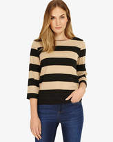 Phase Eight Suri Stripe Ponte Top