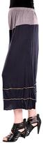 Aster Gray & Yellow Stripe Midi Skirt - Plus Too