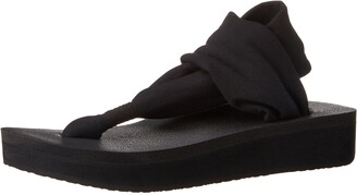 Sanuk Yoga Sling Wedge Black 8 B (M)