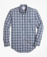 Brooks Brothers Madison Fit Graph Plaid Zephyr Sport Shirt