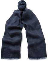 Loro Piana Dorset Linen and Baby Cashmere-Blend Scarf