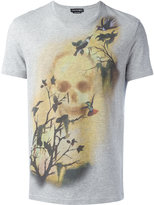Alexander McQueen skull and bird print T-shirt - men - Cotton - S
