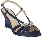 Nina Viani Satin Wedge Sandals