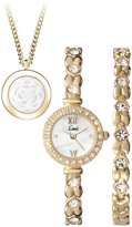 Limit Women's Quartz Watch with Dial Analogue Display and Gold Bracelet 6011G.52