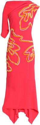 Peter Pilotto Asymmetric Appliqued Crepe Gown