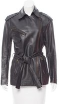 Donna Karan Belted Leather Jacket