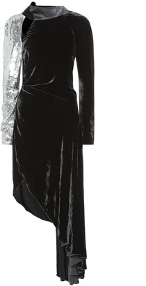 Monse Sequined velvet dress