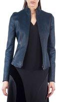 Akris Punto Stand-Collar Leather Jacket