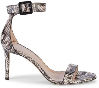 Giuseppe Zanotti Embossed Leather Ankle-Strap Heeled Sandals