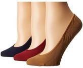 Sperry Solid Micro Liner 3 Pair Women's No Show Socks Shoes