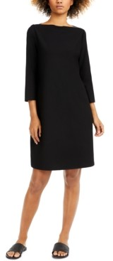 Eileen Fisher Bateau-Neck Dress