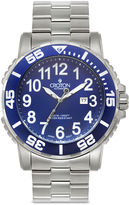 Croton Mens Blue Stainless Steel Sport Watch