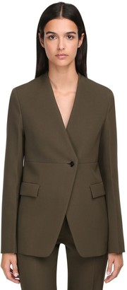 Jil Sander Wool Single Breasted Jacket