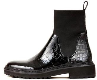 Loeffler Randall Bridget Chelsea Combat Boot in Black