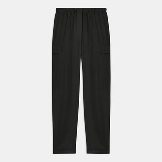 Theory Utility Cargo Pant in Sandwashed Silk