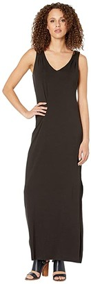 Tommy Bahama Tambour Sleeveless Maxi Dress (Black) Women's Clothing