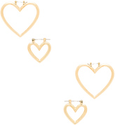 Luv Aj The Heart Hoops Set