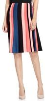 Vince Camuto Women's Multistripe Flare Skirt
