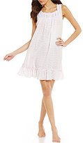 Eileen West Floral-Embroidered Lawn Chemise