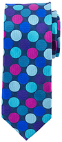 John Lewis Giant Dot Silk Tie, Navy/multi