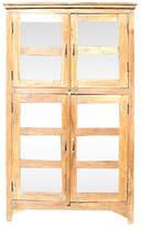 One Kings Lane Vintage Teak Glass Colonial Bookcase