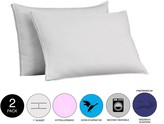2-Pack Gusseted Firm Pillow - White