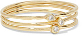 Jennifer Meyer Set Of Three 18-karat Gold Diamond Rings