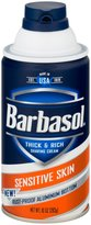 Barbasol Shave Cream, Sensitive Skin - 10 oz