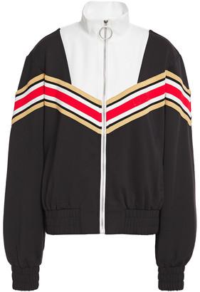 Maje Thelo Striped Stretch-jersey Track Jacket