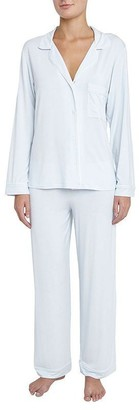 Eberjey Gisele Pj Set - Water Blue/White, M