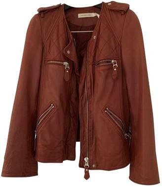 Etoile Isabel Marant Burgundy Leather Leather Jacket for Women