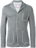 Moncler Gamme Bleu piped blazer - men - Cotton/Polyamide/Cupro - 2