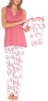 Olian Women's 4-Piece Maternity Sleepwear Gift Set