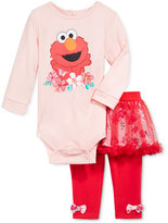 Nannette Baby Girls' 2-Pc. Elmo Bodysuit & Tutu Leggings Set