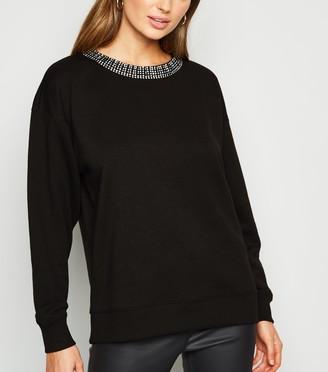 New Look Diamante Collar Sweatshirt