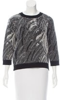 Moncler Wool & Mohair-Blend Scoop Neck Sweater w/ Tags