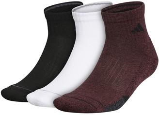 adidas Men's Cushioned II Climalite 3-pack Quarter Socks