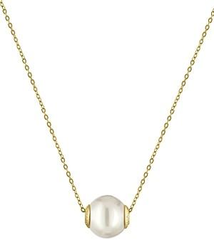 Majorica Simulated Pearl Pendant Necklace, 16