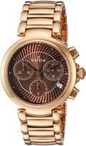 Edox Women's 10220 37RM BRIR LaPassion Analog Display Swiss Quartz Rose Gold Watch