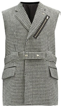 TAKAHIROMIYASHITA TheSoloist. Houndstooth-check Wool-twill Sleeveless Blazer - Grey