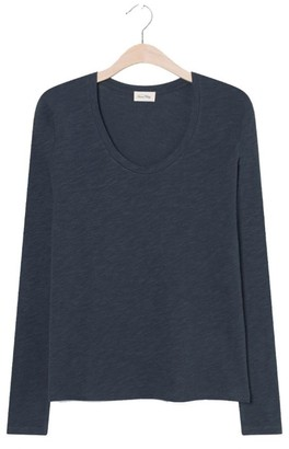 American Vintage Vintage Zinc Jacksonville Long Sleeve T Shirt - large