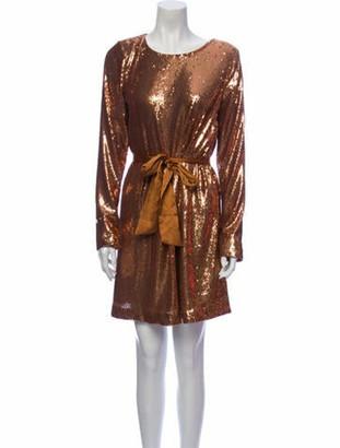 Ramy Brook Scoop Neck Mini Dress Gold