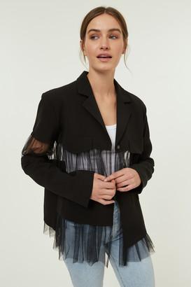 Jovonna London Black Bo Jacket - one size