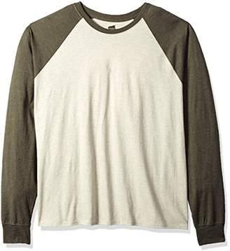 Hanes Men's Long Sleeve Comfortblend Raglan Tri-Blend Tee Extended Size
