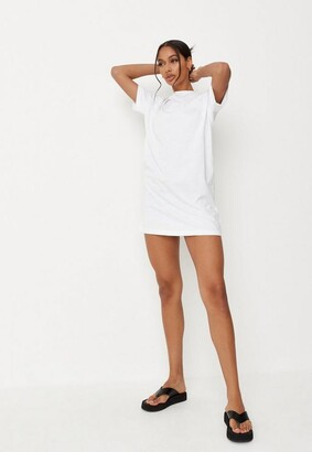 Missguided Petite White Basic T Shirt Dress
