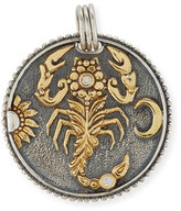 Konstantino Scorpio Carved Zodiac Pendant with Diamonds