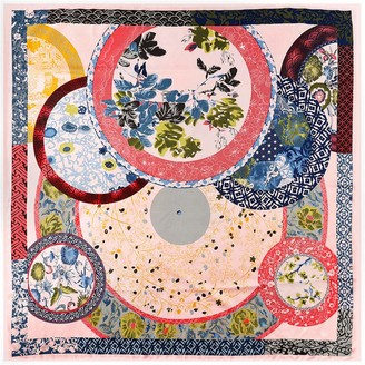 Songqiang Women'S Silk Scarf Printing European And American Models 130Cm*130Cm Large Square Scarf - Pink_130Cm*130Cm